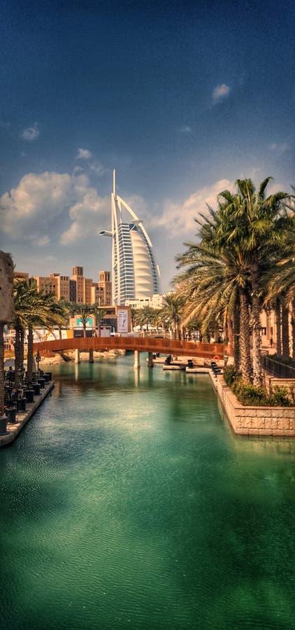 Dubaj zatoczki burj al arab fotografia stock