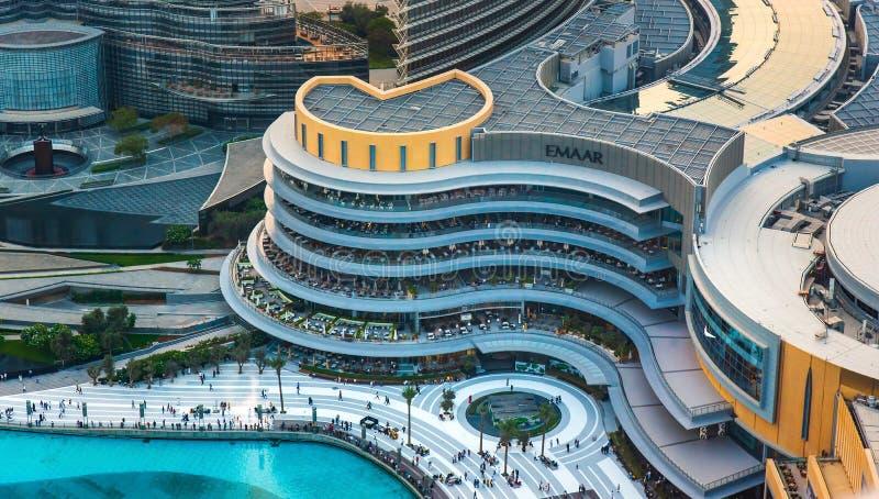 Dubaj Zjednoczone Emiraty Arabskie, Lipiec, - 5, 2019: Dubaj fontanna i obraz stock