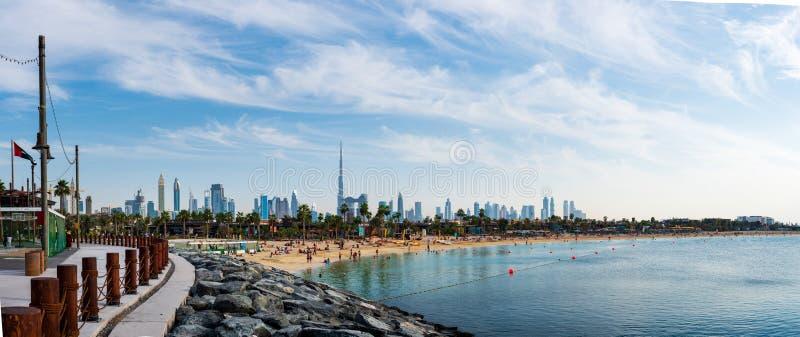 Dubaj Zjednoczone Emiraty Arabskie, Listopad, - 24, 2018: Panoramiczny widok zdjęcia stock