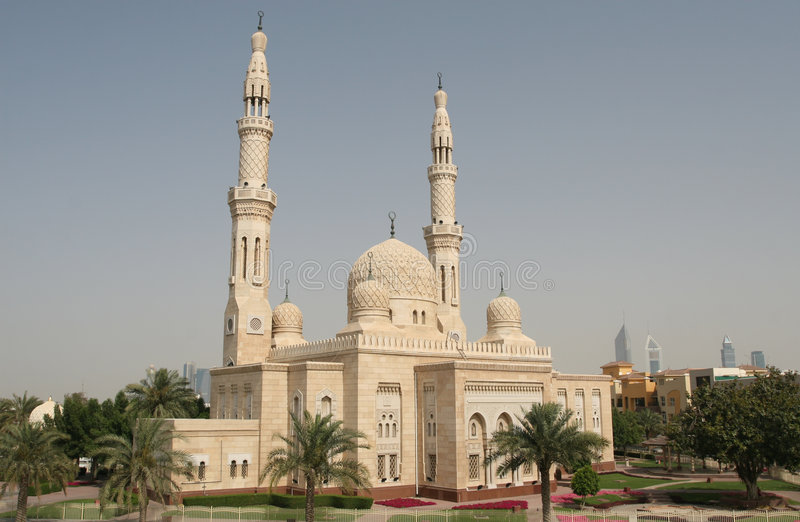 dubaju meczetu zdjęcie stock