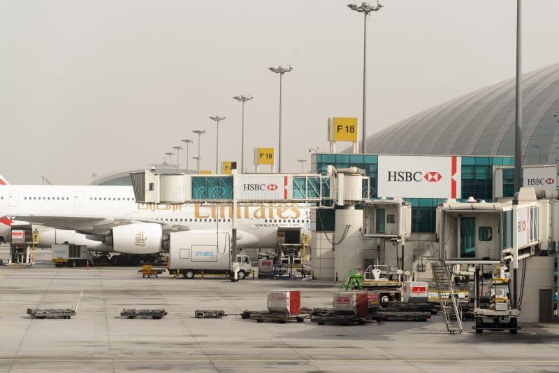 Dubaju na lotnisku międzynarodowym obraz stock
