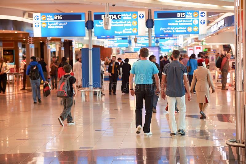 Dubaju na lotnisku międzynarodowym obrazy stock