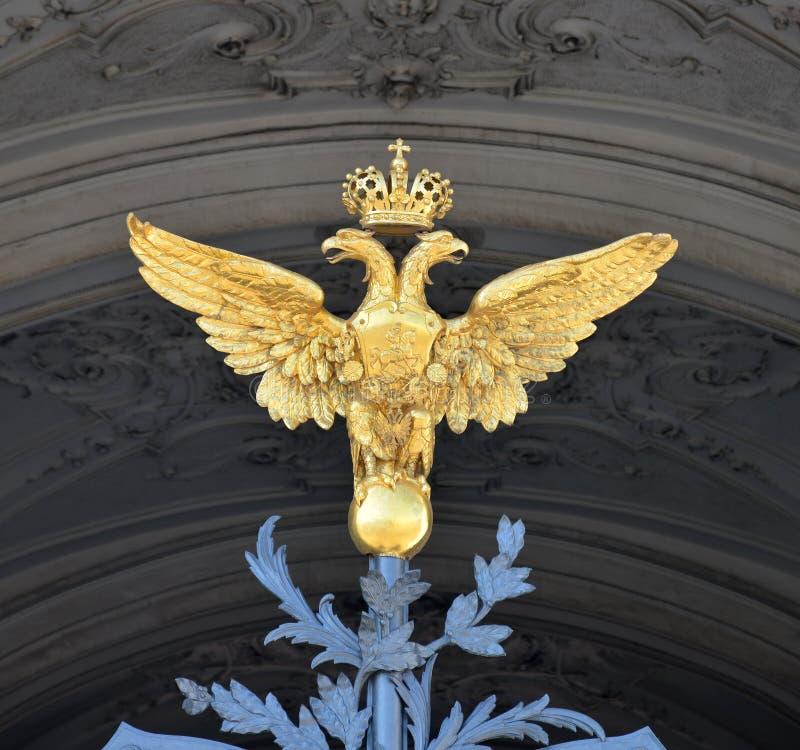 Dubbel örn. royaltyfri bild