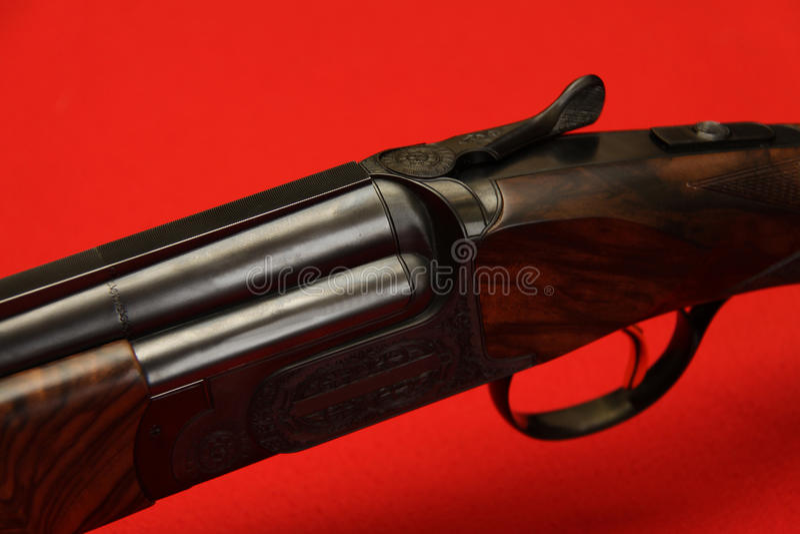 Dubbel-Barrelled kanon royalty-vrije stock fotografie