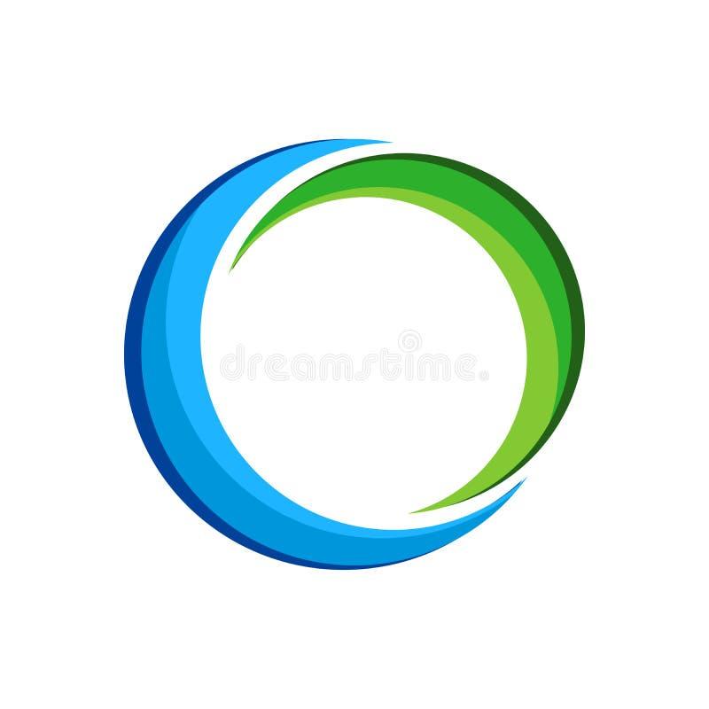 Dubbel Crescent Swoosh Logo Symbol Mark-Ontwerp vector illustratie