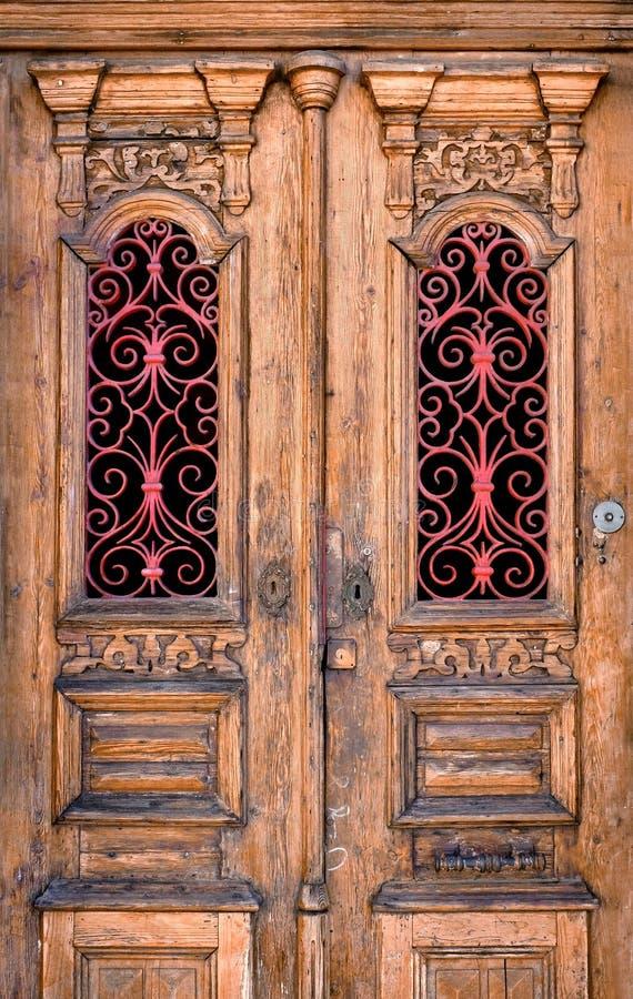 Dubbel dörr arkivbilder