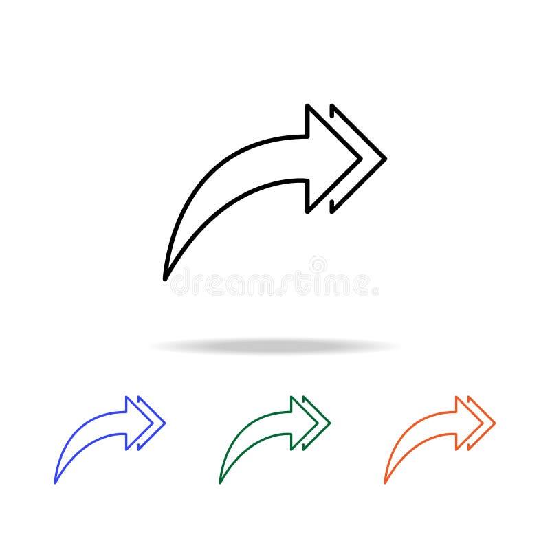 dubbel het groeien pijlenpictogram Elementen van eenvoudig Webpictogram in multikleur Grafisch het ontwerppictogram van de premie stock illustratie