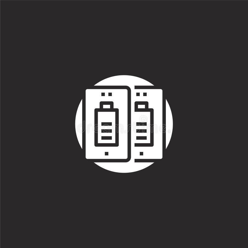 dubbel pictogram Gevuld dubbel pictogram voor websiteontwerp en mobiel, app ontwikkeling dubbel pictogram van gevulde mobiele tec stock illustratie