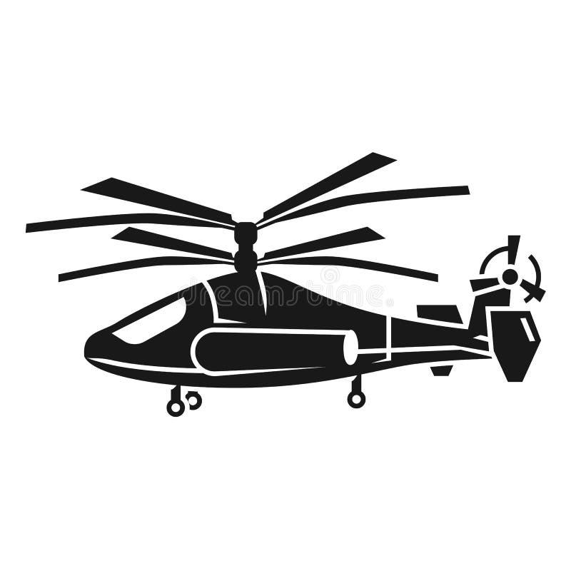 Dubbel propellerhelikoptersymbol, enkel stil royaltyfri illustrationer