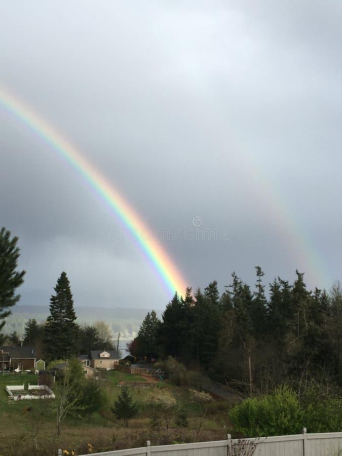 dubbel regnbåge fotografering för bildbyråer