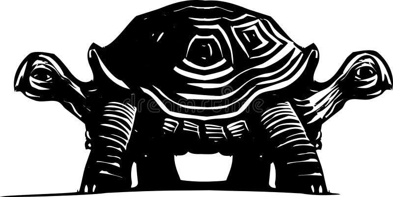 Dubbel sköldpadda royaltyfri illustrationer