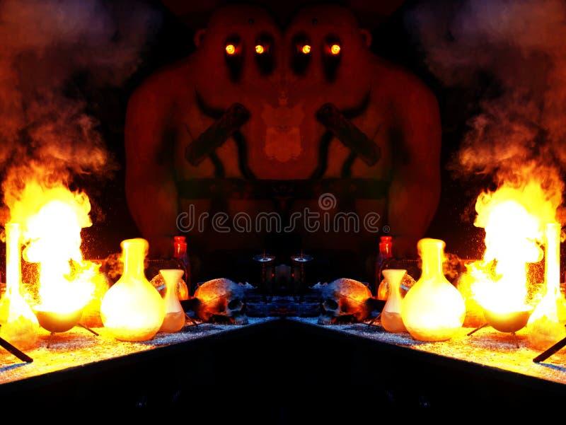 Dubbel trollkarl för golemlaboratorium s