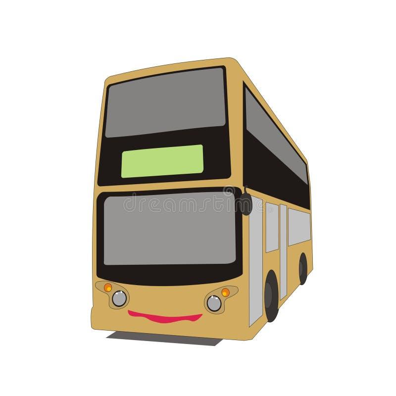 Dubbeldäckarebuss stock illustrationer