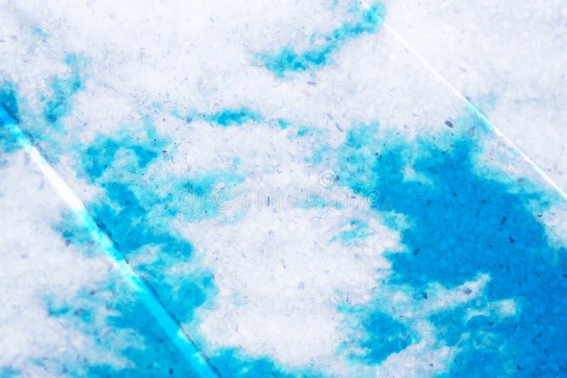 Dubbele blootstelling van zoete pastelkleur gekleurde wolk met terrazzo ston royalty-vrije stock fotografie