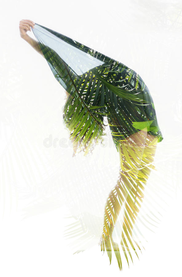 Dubbele blootstellingsfoto vector illustratie