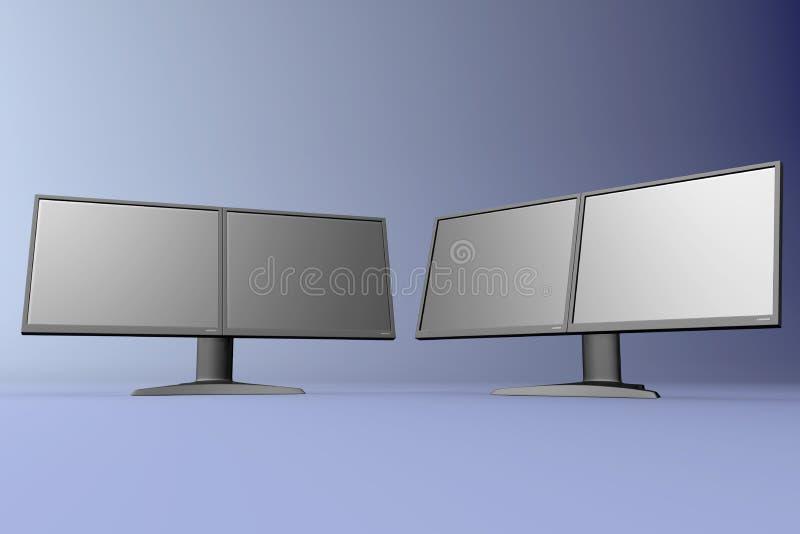 Dubbele LCD toont 06 vector illustratie