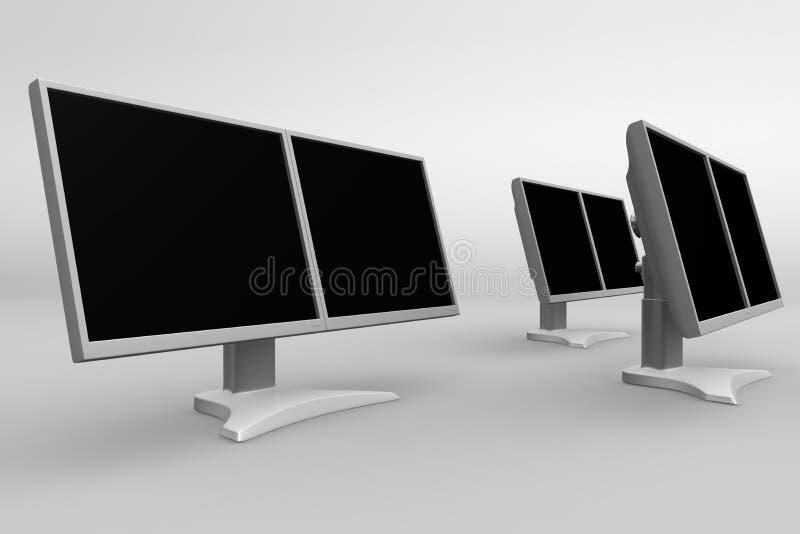 Dubbele LCD toont 09 royalty-vrije illustratie