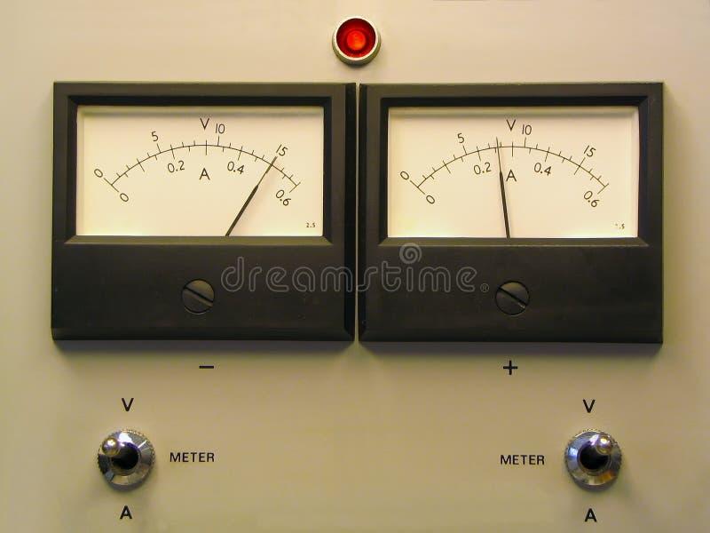 Dubbele paneelmeters royalty-vrije stock foto's
