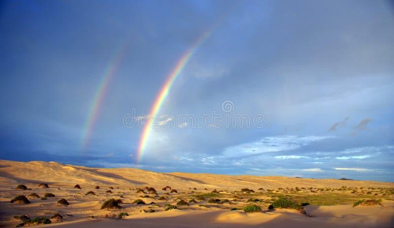 Dubbele regenboog royalty-vrije stock foto's