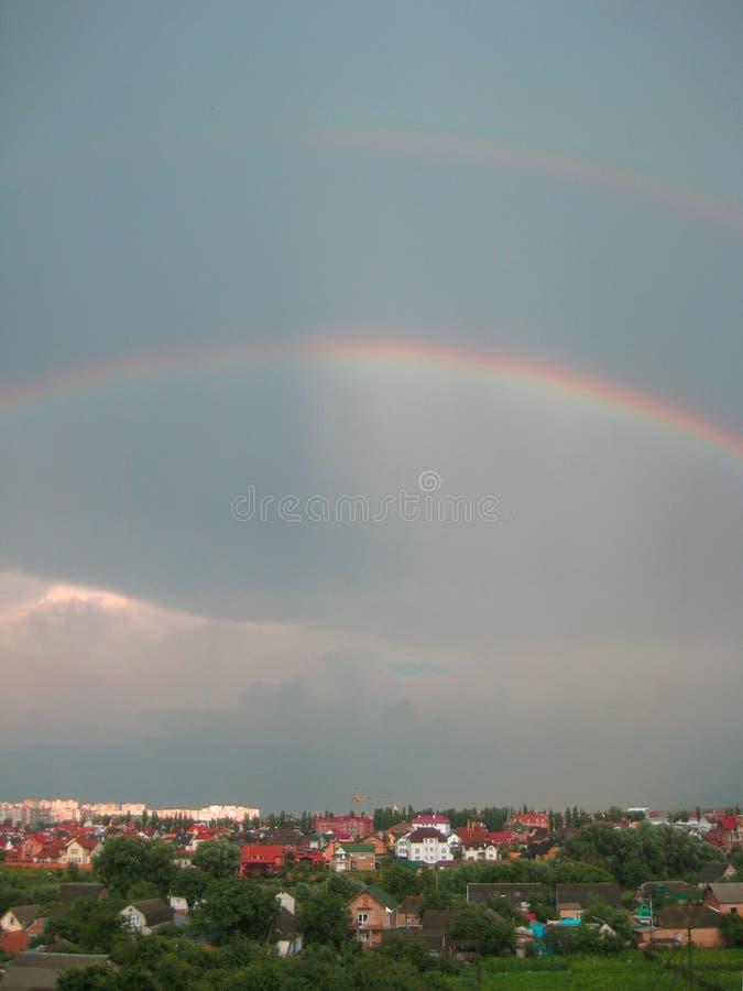 Dubbele Regenboog stock afbeelding