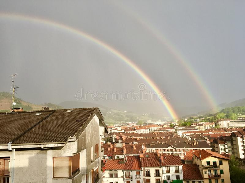 Dubbele Regenboog stock afbeeldingen