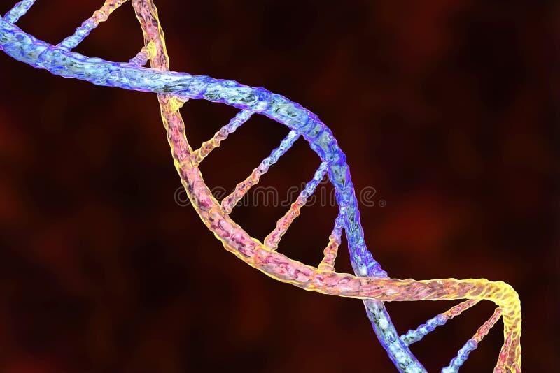 Dubbele schroef van DNA stock illustratie