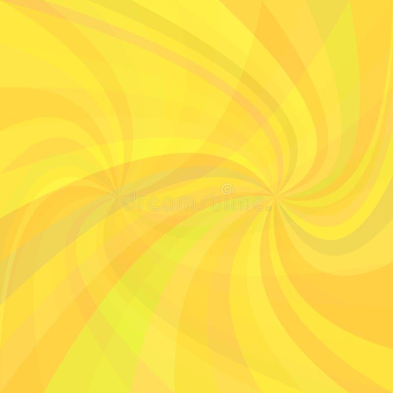 Dubbele spiraalvormige straalachtergrond - vector grafisch van verdraaide stralen stock illustratie