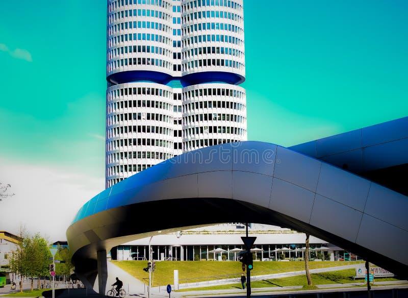 Dubbele toren van moderne architectuur stock afbeelding