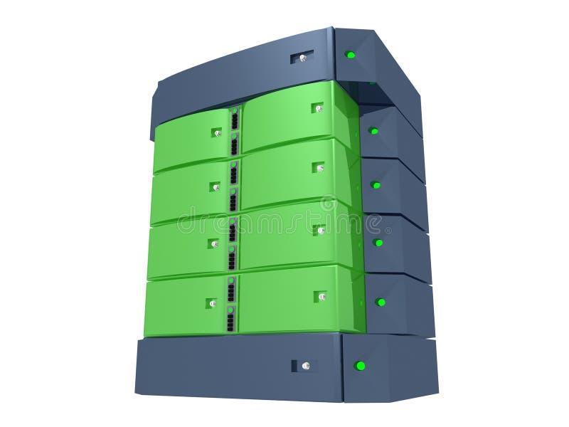 dubbelgrön server royaltyfri illustrationer