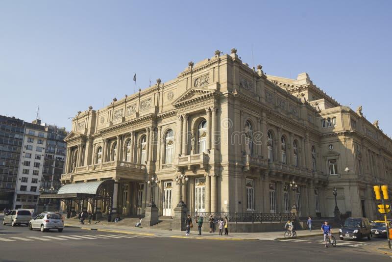 Dubbelpunttheater en Lavalle-vierkant royalty-vrije stock afbeeldingen