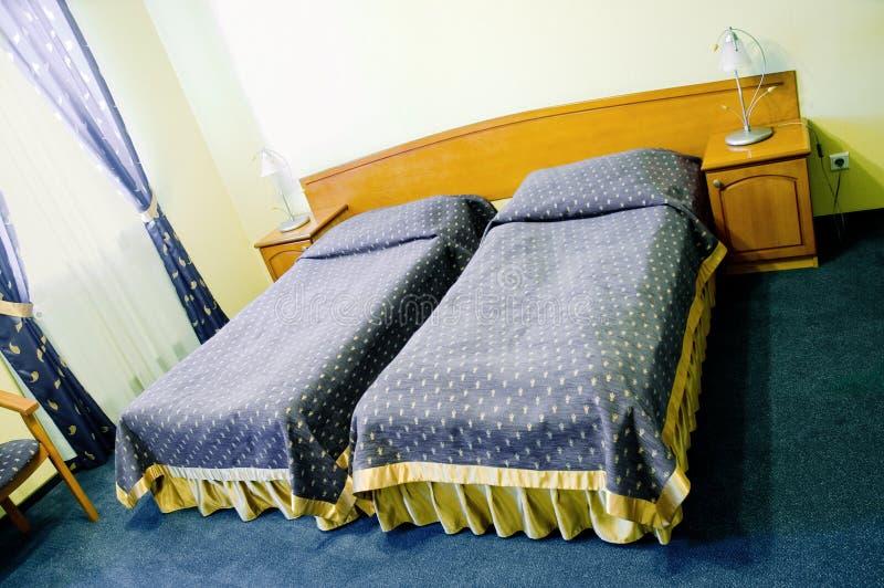 Dubbelrum i hotell royaltyfri foto