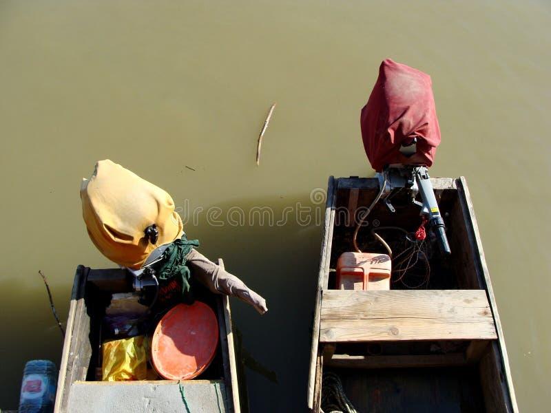 Dubbelt fartyg på Donau royaltyfria bilder
