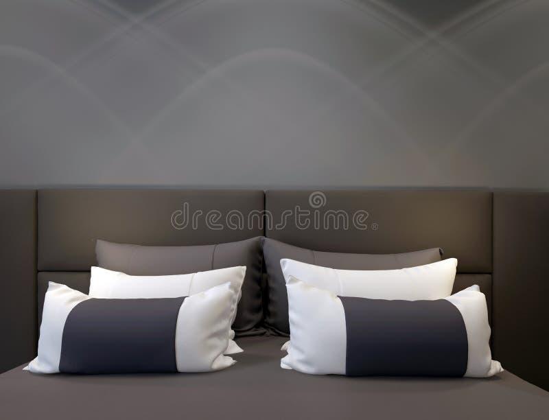 dubbelt modernt för sovrum stock illustrationer