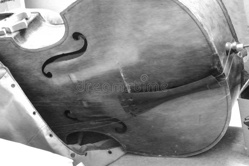 Dubbla Bass Guitar Cello arkivbild