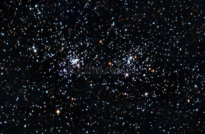 dubbla starfieldstjärnor för klunga arkivbilder