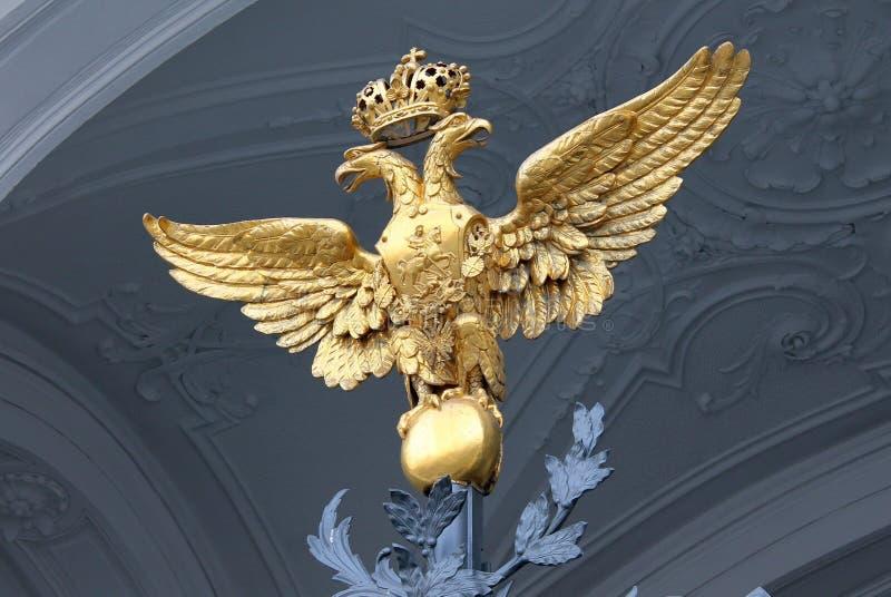 Dubblett-hövdad örn - designbeståndsdelen av maingaten St Petersburg St Petersburg arkivbilder