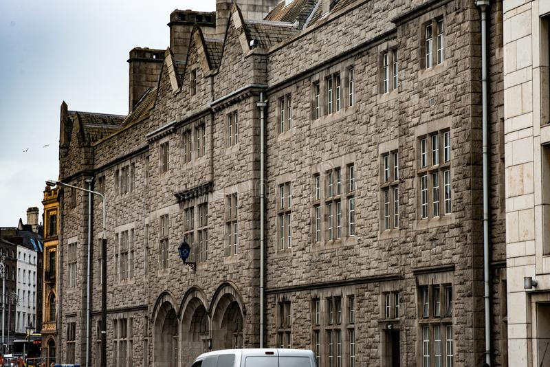 DUBLÍN, IRLANDA - 30 DE AGOSTO: Campus de la universidad de la trinidad, Dublin City, Irlanda fotos de archivo libres de regalías