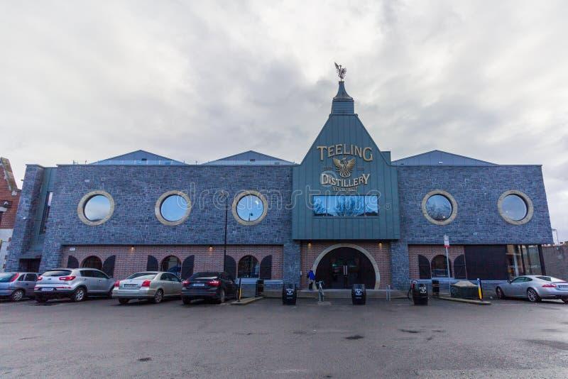Dublín, Irlanda - 20 de enero de 2019 - exterior de la destilería de Teeling fotografía de archivo libre de regalías