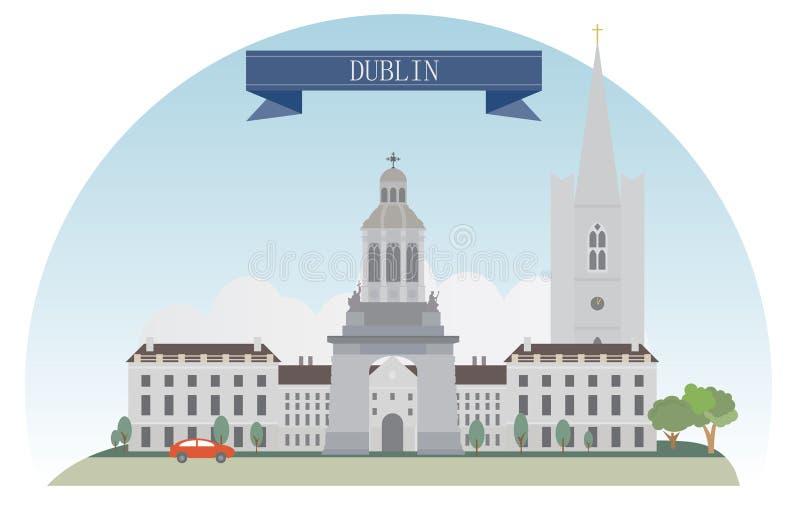 Dublin ilustracja wektor