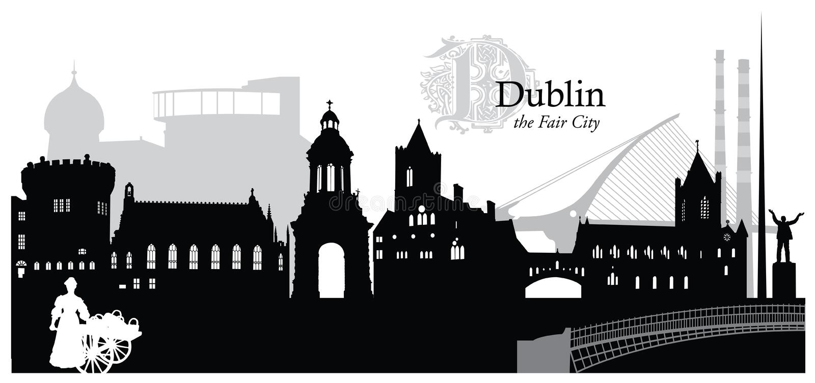 dublin stock illustratie