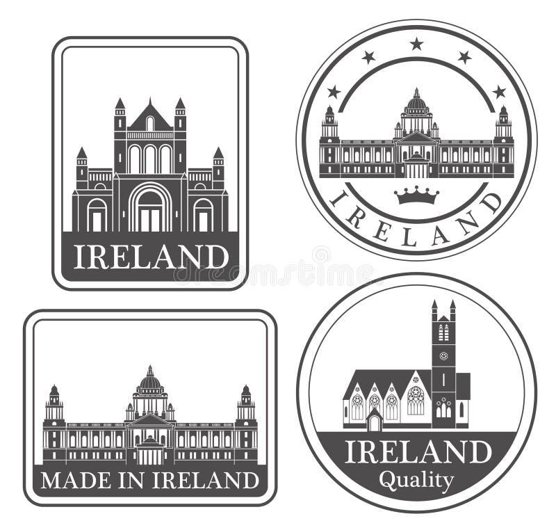 Dublin abstrata ilustração royalty free