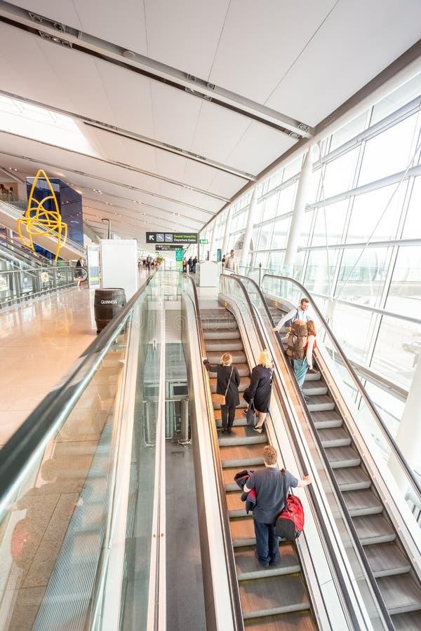 Dublin Airport`s Terminal Two. Dublin, Ireland - May 8th, 2018: The new Terminal 2 at Dublin Airport in Ireland stock photo