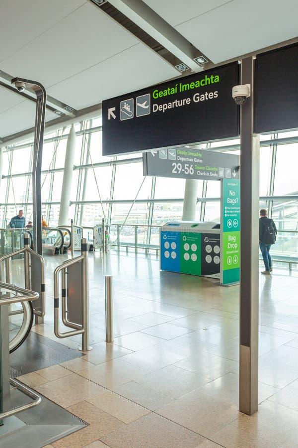 Dublin Airport`s Terminal Two. Dublin, Ireland - May 8th, 2018: The new Terminal 2 at Dublin Airport in Ireland royalty free stock photo
