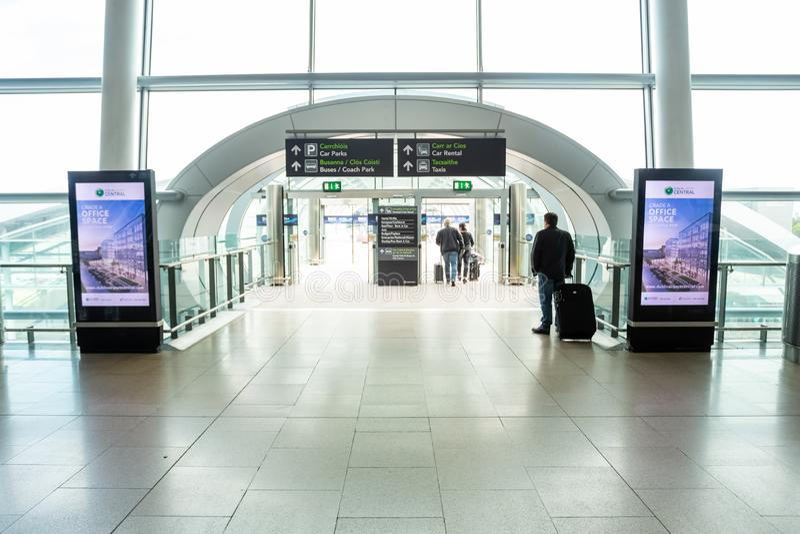 Dublin Airport`s Terminal Two. Dublin, Ireland - May 8th, 2018: The new Terminal 2 at Dublin Airport in Ireland royalty free stock photos