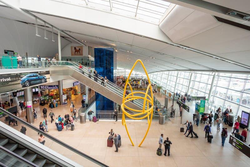 Dublin Airport`s Terminal Two. Dublin, Ireland - May 8th, 2018: The new Terminal 2 at Dublin Airport in Ireland royalty free stock photography
