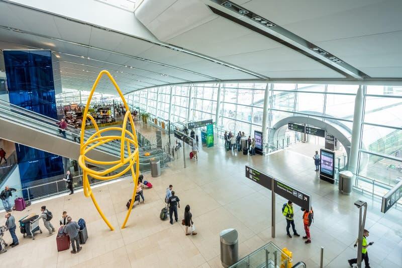 Dublin Airport`s Terminal Two. Dublin, Ireland - May 8th, 2018: The new Terminal 2 at Dublin Airport in Ireland stock images
