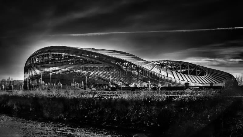 Dublin-Aviva Stadium B&W fotografia de stock