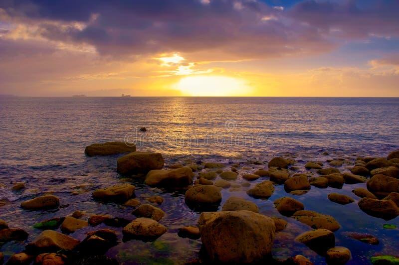 Dublin bay wschód słońca zdjęcia royalty free
