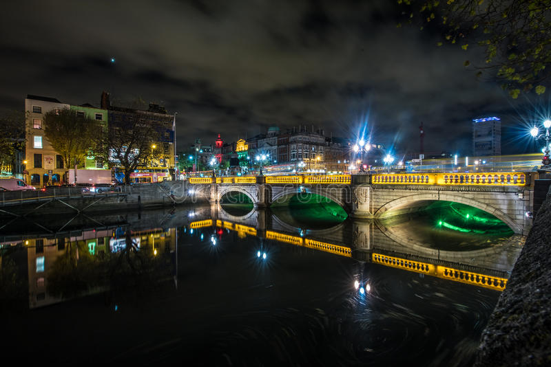 Dublin Bridge. In 2003/2004 the Dublin City Council, planned and built what was intended to be a European-style book market on Grattan Bridge. The initiative royalty free stock photo