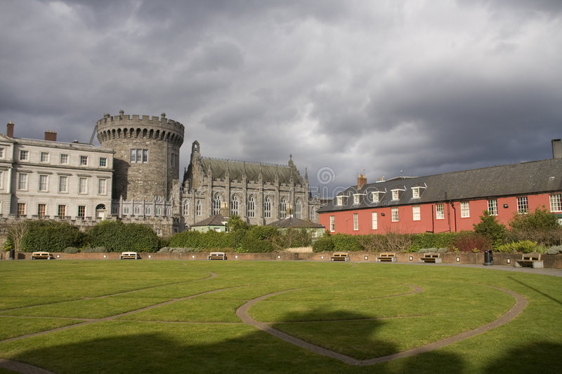Download Dublin castle stock photo. Image of coloured, sunshine - 9190906